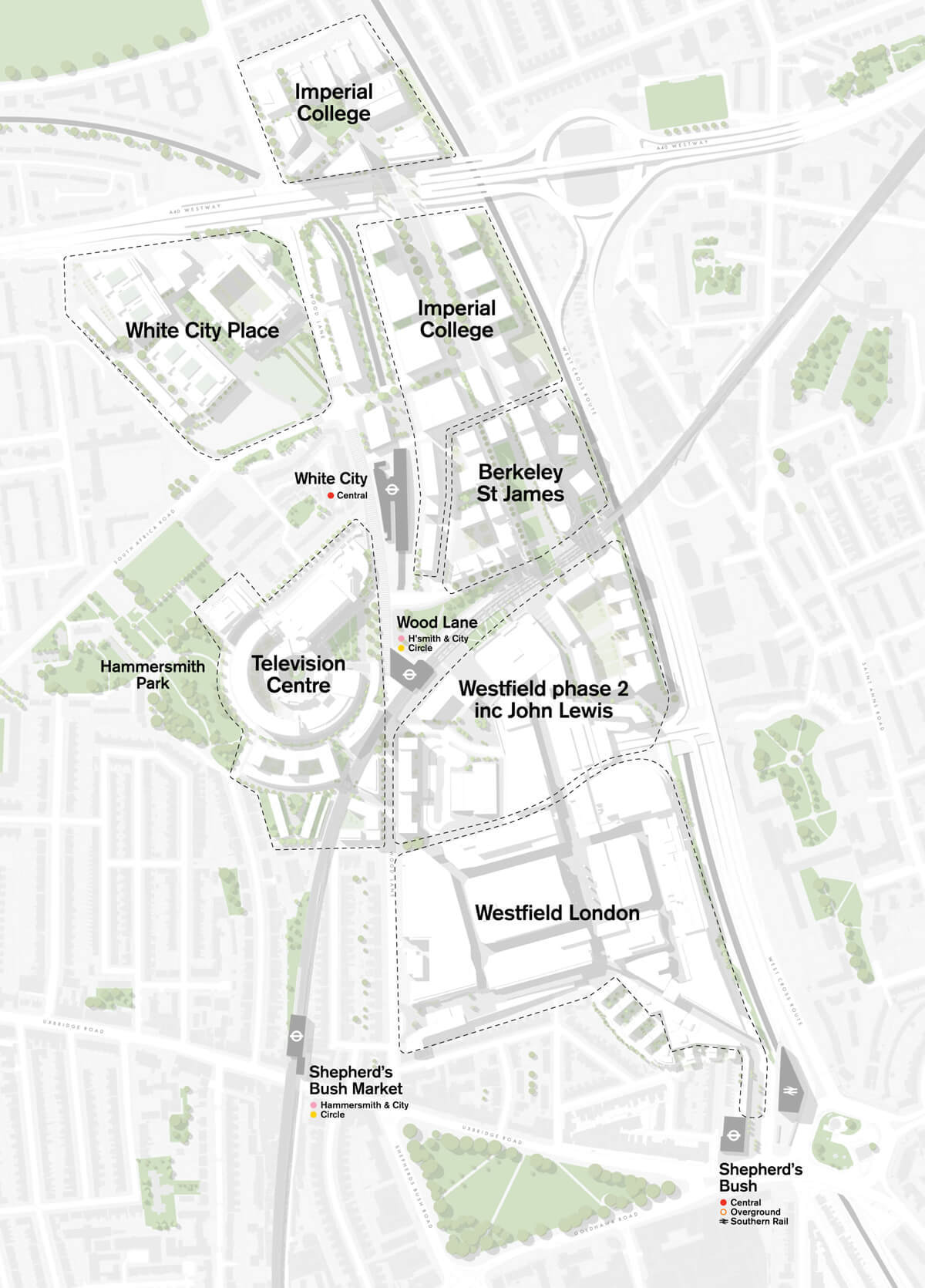 Map of White City