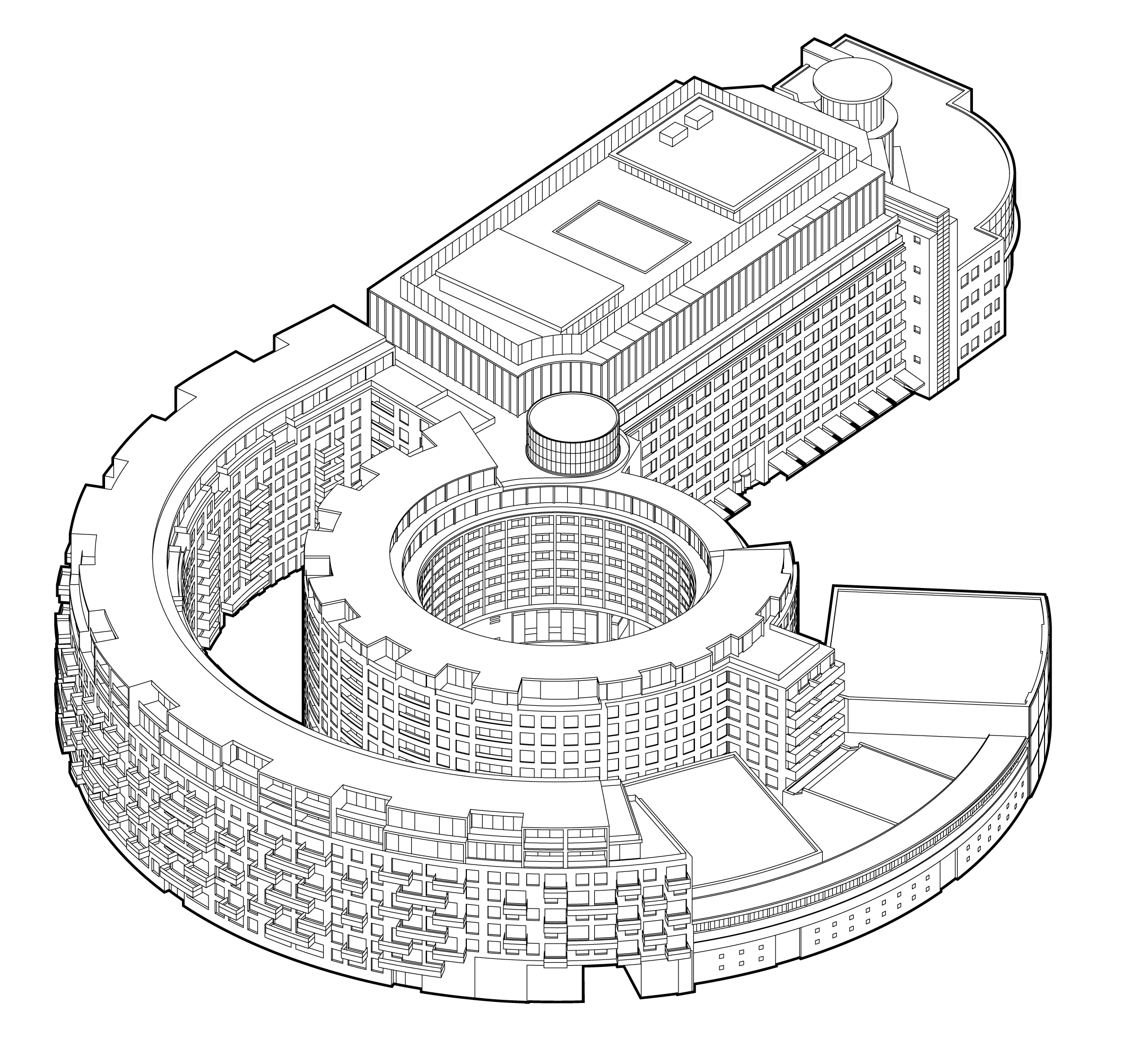 Diagram of the Television Centre